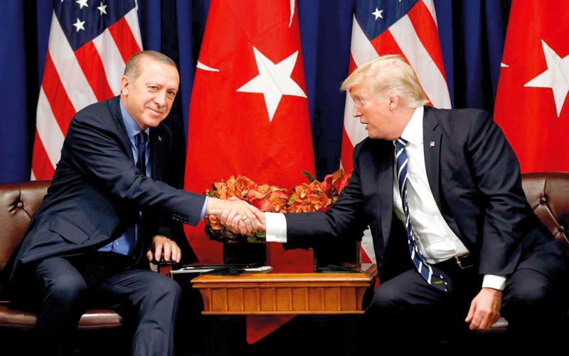 ترامب غض الطرف عن مخالفات المؤسسات والمصارف التركية.  أرشيفية