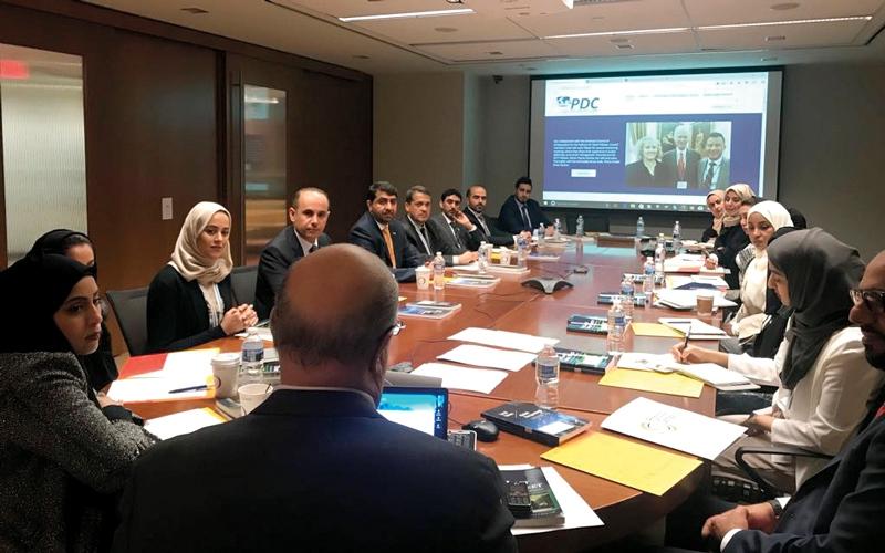 الصورة: محاضرات وزيارات لأعضاء «الدبلوماسية الإعلامية الدولية» في واشنطن