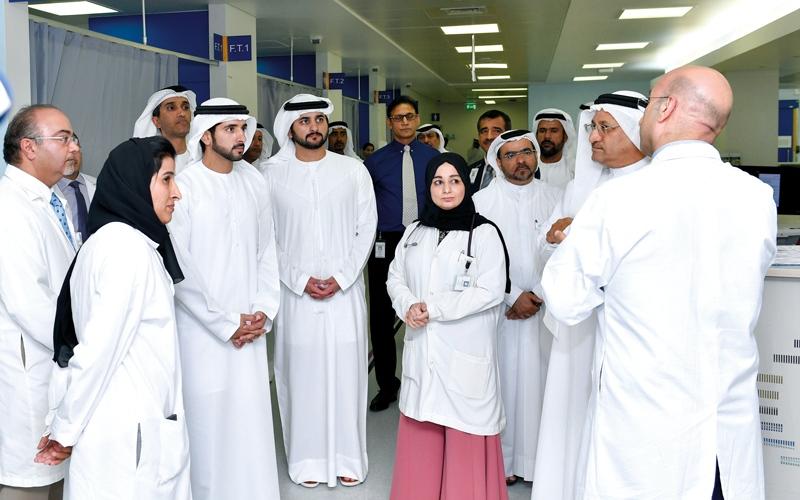 الصورة: حمدان بن محمد: هدفنا توفير خدمات صحية عالمية لسكان دبي