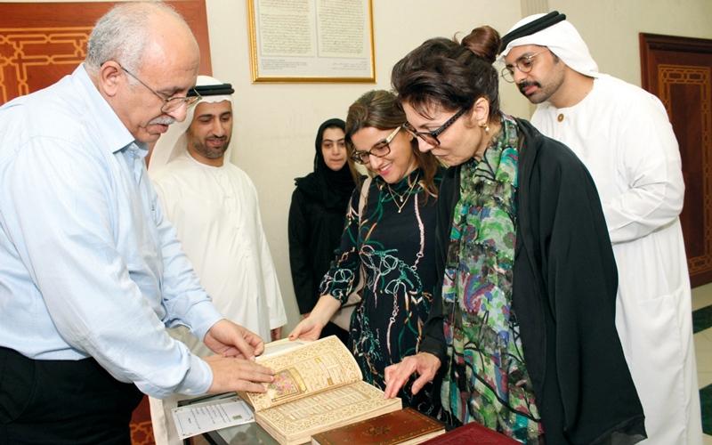 الصورة: وفد من «إكسبو دبي» يزور مركز جمعة الماجد