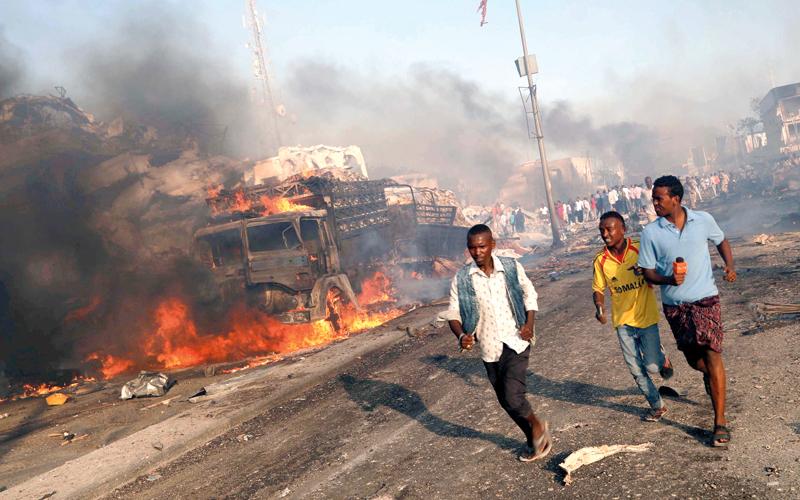 التفجير الأخير في مقديشو أثبت مدى هشاشة الوضع الأمني.  رويترز