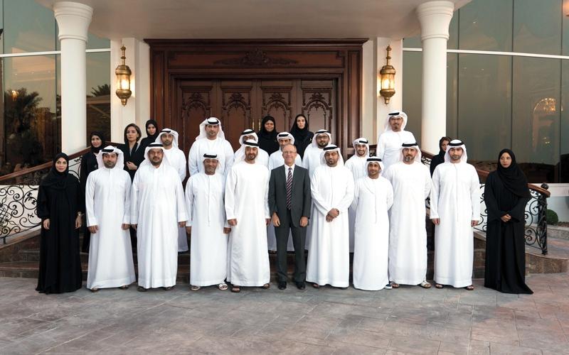 الصورة: محمد بن زايد يستقبل وفود «الصناعات العسكرية» و«ربدان» و«الإمارات للرماية»