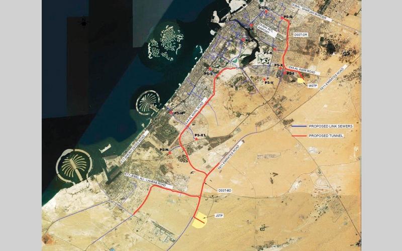 الصورة: بلدية دبي تبدأ تحقيقاً «جغراتقنياً» لمشروع النفق الاستراتيجي للصرف الصحي