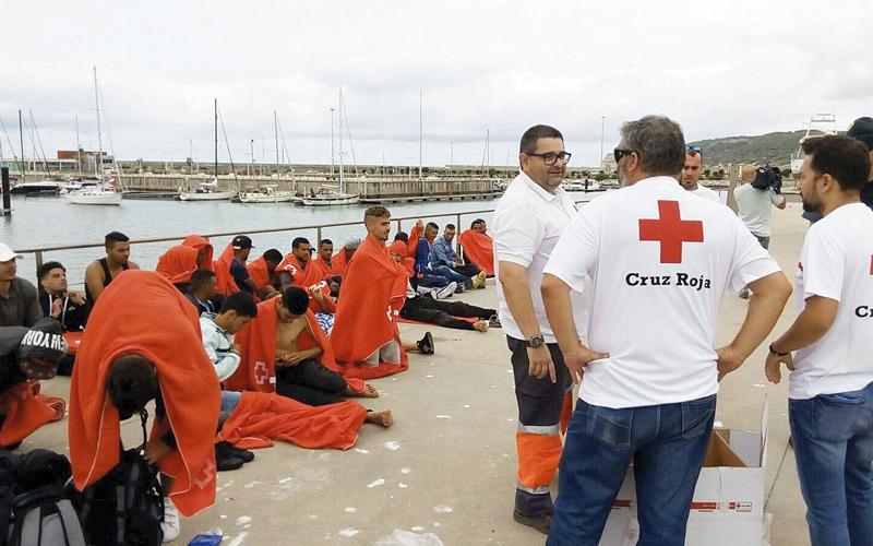 الصورة: إسبانيا تحتجز مئات المهاجرين في سجن بسبب اكتظاظ مراكز الاستقبال