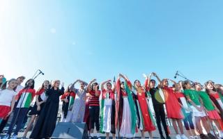 الصورة: الجسمي وبلقيس والسعيد يحيون احتفالات اليوم الوطني «ريفرلاند دبي»