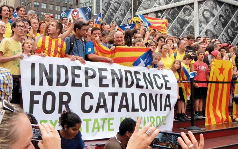 حركة الدعوة لاستقلال كتالونيا لم تهدأ قبل مخاطبة مسألة الاستقلال الذاتي مجدداً.  أرشيفية