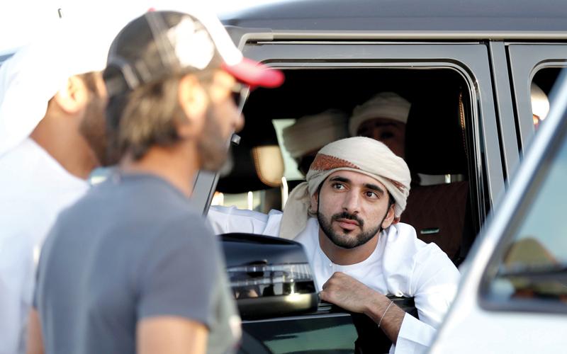 محمد بن راشد يشهد سباق سيح السلم للدراجات الهوائية