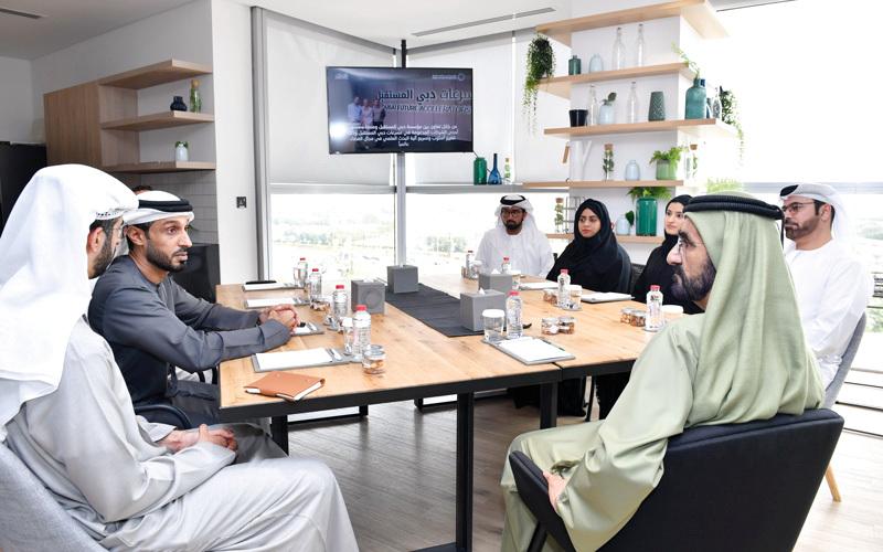 محمد بن راشد: رهاننا كبير على مؤسسة دبي المستقبل ومجمع العلماء ووزراء العلوم المتقدمة والذكاء الاصطناعي. وام