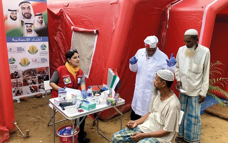 الصورة: «زايد الخير» وأطباء «السعودي الألماني» يخفّفون معاناة الروهينغا