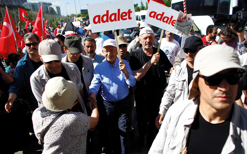 لم يتسامح أردوغان مع المعارضة مطلقاً.  رويترز