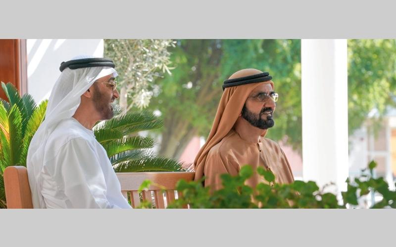 الصورة: محمد بن راشد ومحمد بن زايد يؤكدان أولوية التنمية وإسعاد المواطنين