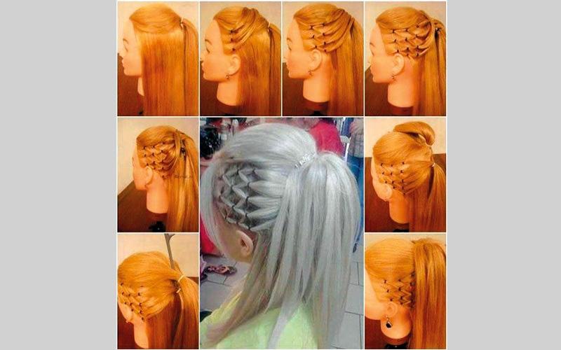 الصورة: Hair Style Steps.. لتصفيف الشعر الطويل خطوة بخطوة