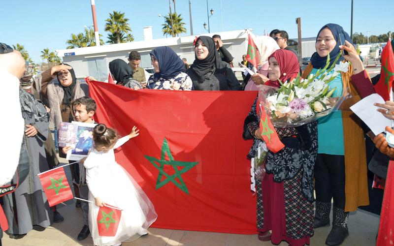 الفائز باللقب ياسين لشهب حظي باحتفاء مغربي.  من المصدر