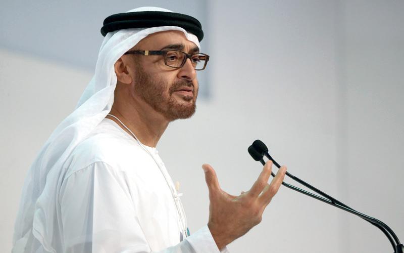 محمد بن زايد: جائزة زايد لطاقة المستقبل تحرص على ترسيخ القيم الإنسانية والفكر الإبداعي