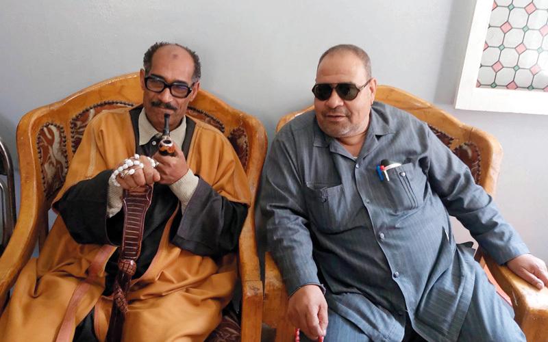 سمير البمباوي وشبيه السادات.  أرشيفية