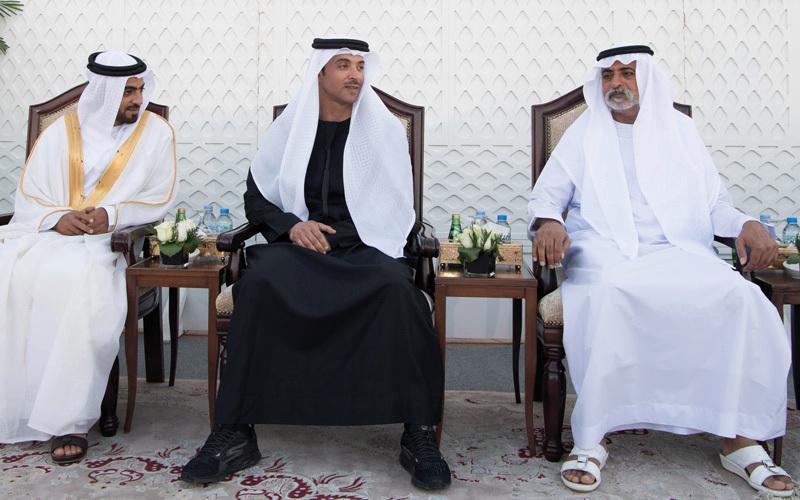 محمد بن زايد يحضر حفل زفاف خلفان المزروعي