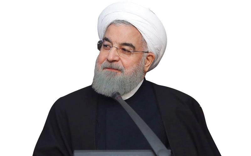 روحاني يريد التعامل بهدوء مع المحتجين. أ.ف.ب