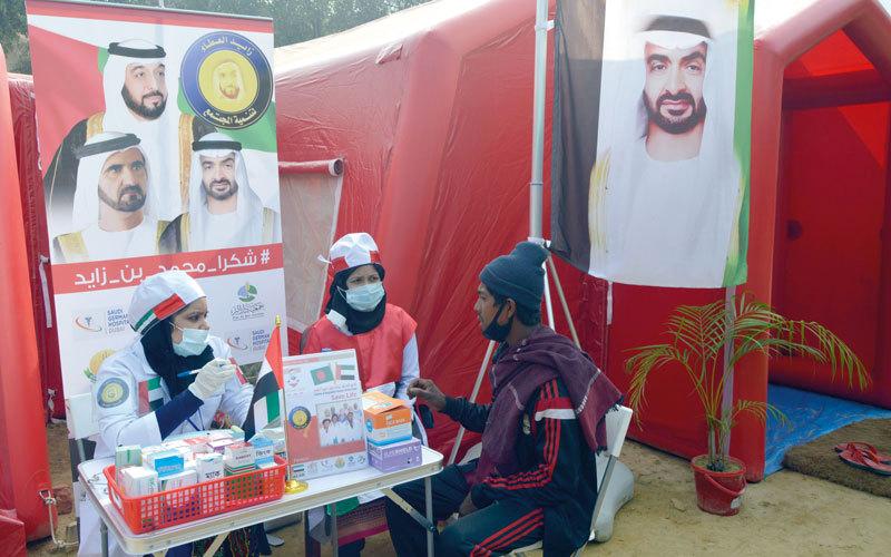 مستشفى زايد الإنساني لعلاج اللاجئين الأطفال والمسنين الروهينغا. من المصدر