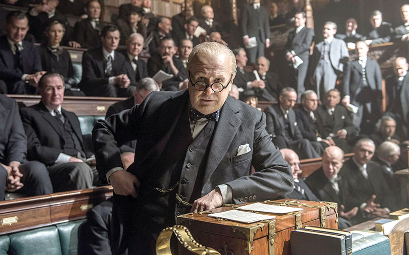 Focus Features Gary Oldman stars as British Prime Minister Winston Churchill in 'Darkest Hour.'