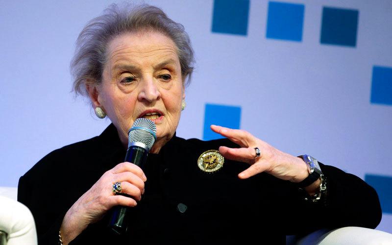 مادلين اولبرايت تميزت بالخبرة الواسعة في مجالها كسفيرة في الامم المتحدة، رويترز