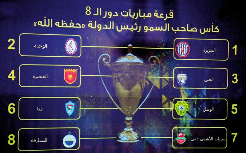الوحدة يصطدم بالجزيرة في ربع نهائي الكأس - الإمارات اليوم
