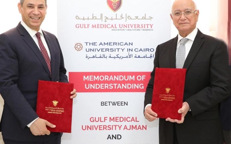 الصورة: مذكرة تعاون بين الخليج الطبية وأميركية القاهرة