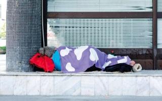 الصورة: تزايد عدد المشرَّدين النائمين في شوارع بريطانيا