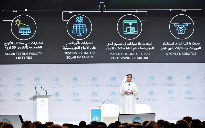 الطاير: جهودنا أسهمت في تحقيق الإمارات المرتبة الأولى عالمياً في الحصول على الكهرباء. تصوير: أسامة أبوغانم