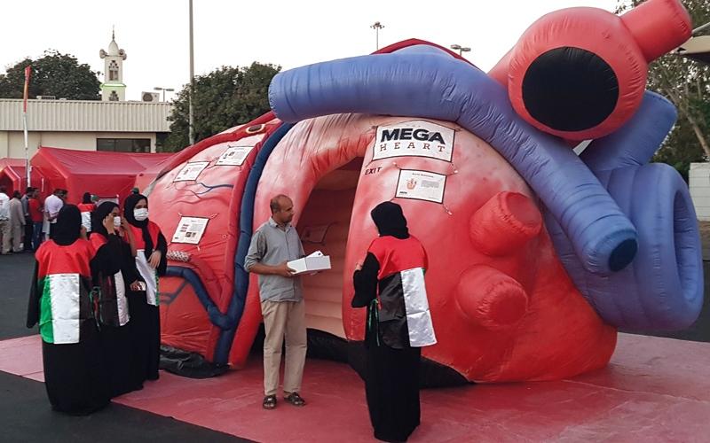 الصورة: تدشين أول مركز متنقل للإنعاش القلبي في الدولة
