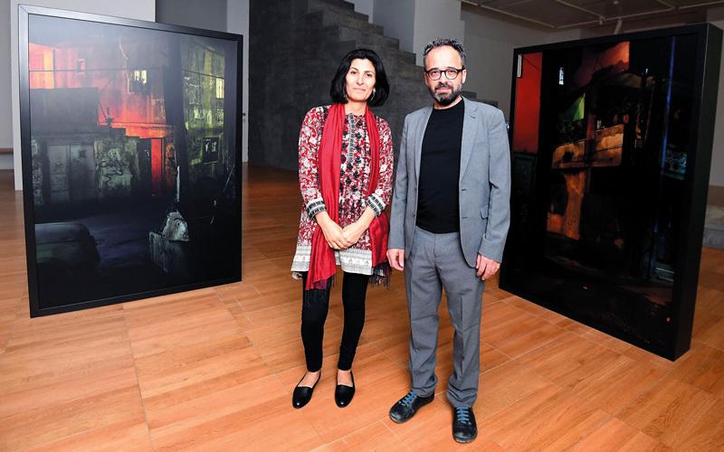 ساندي هلال وأليساندرو بيتي.  تصوير: إريك أرازاس