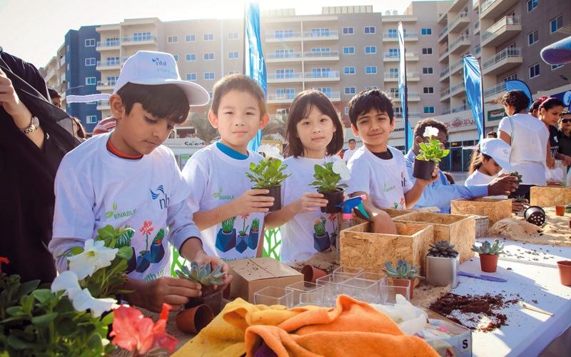 الصورة: «الفجيرة الوطني» يدعم المبادرات البيئية في «عام زايد»
