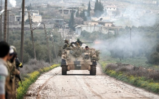 الصورة: 36 قتيلاً من القوات الموالـــــية لدمشق بغارات تركية على عفــــرين