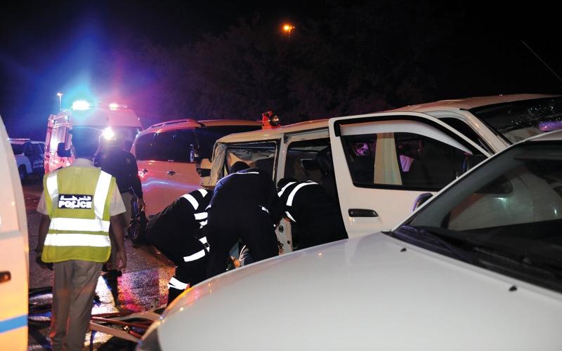 الصورة: وفاة شخص وإصابة 5 بحادث تصادم في أبوظبي
