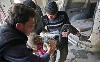 الصورة: ترامب يدرس ضرب نظام الأسد عقاباً على «كيماوي الغوطة»