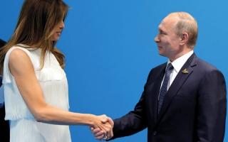 الصورة: بوتين: لم أحاول تجنيد ميلانيا ترامب