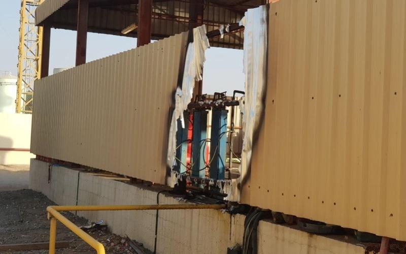 الصورة: إصابة 5 عمال آسيويين إثر انفجار أسطوانة غاز بعجمان