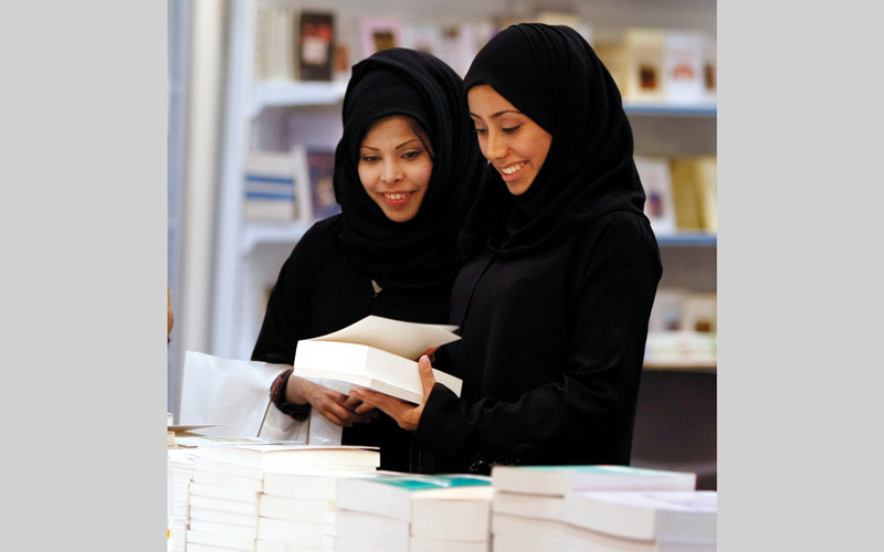 معرض الرياض للكتاب من أكبر الفعاليات الثقافية في المملكة.  أ.ب - أرشيفية