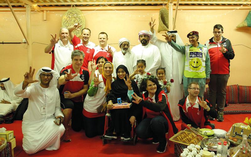 الوفود المشاركة في الأولمبياد الخاص سعداء بالأكلات الشعبية