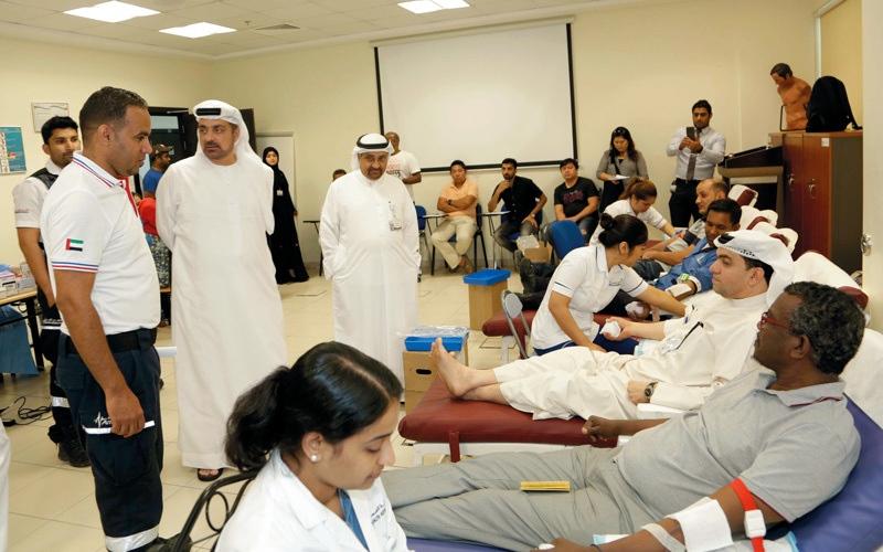الصورة: حملة تبرع بالدم في «إسعاف دبي»