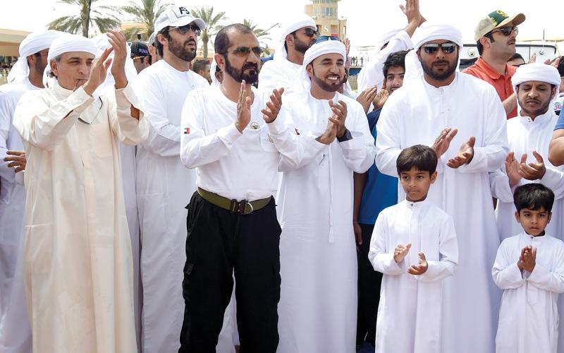 الصورة: محمد بن راشد يشهد ختام مــــهرجان ولي عهد دبي للقدرة