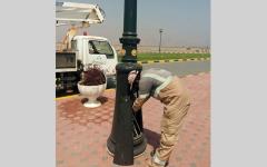 الصورة: «كهرباء الشارقة» تنجز مشروعات إنارة شوارع جزيرة دبا الحصن