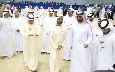 الصورة: محمد بن راشد يشهد ختام بطولة دبي للجواد العربي