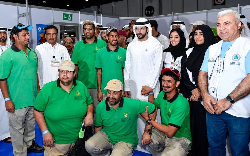 الصورة: حمدان بن محمد يزور فعاليات الأولمبياد الخاص