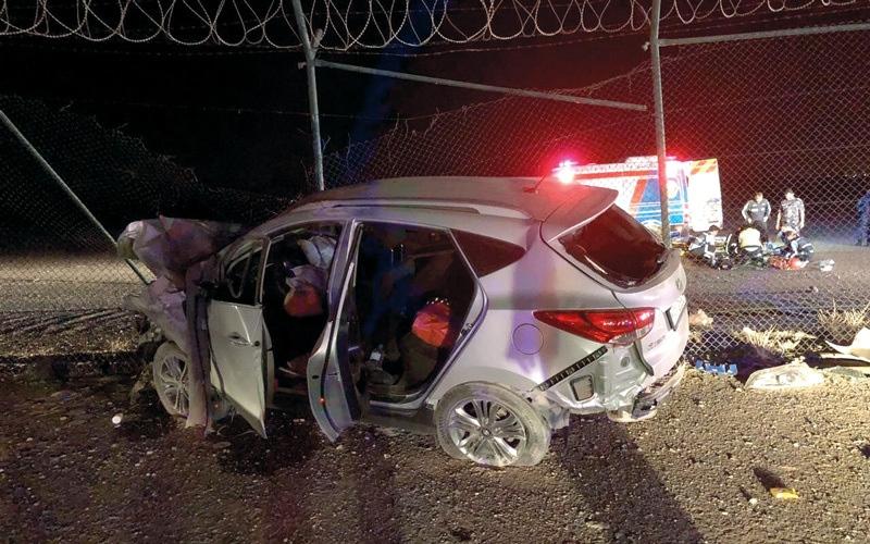 الصورة: وفاة مواطن بتدهور مركبة في رأس الخيمة