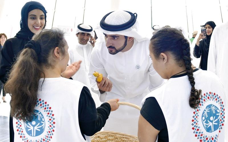 الصورة: حمدان بن محمد يتابع جانبـاً من لقاء الإمارات ومصر في السلة