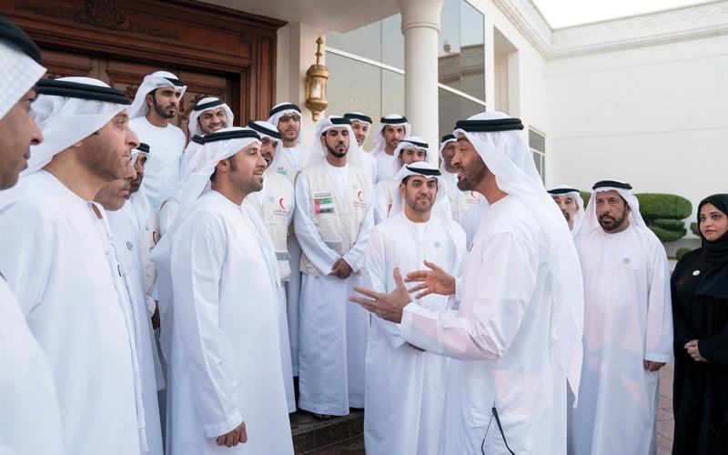 الصورة: محمد بن زايد: الأعمال الإنسانية نھج أصيل وثابت في سياسة الدولة