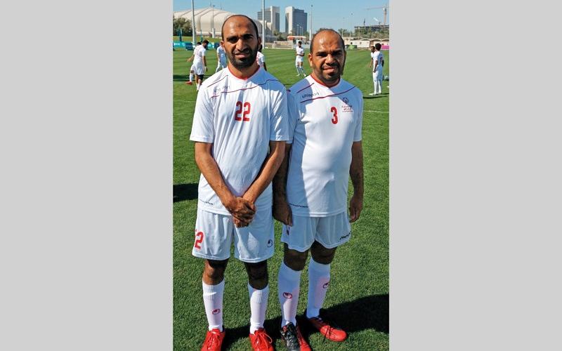 الصورة: أشقاء يخطفون الأنظار في منتخب كرة القدم لأصحاب الهمم