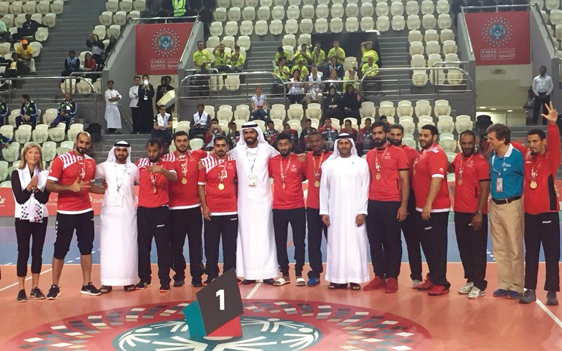 الصورة: منتخب اليد يحرز ذهبية الأولمبياد الخاص