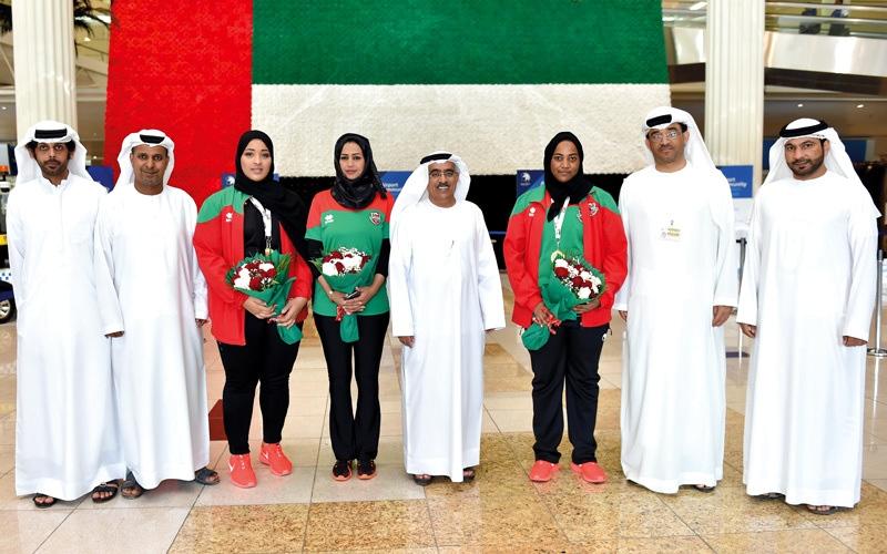 الصورة: بعثة «قوى السيدات» في شباب الأهلي تعود من الأردن بـ 3 ذهبيات