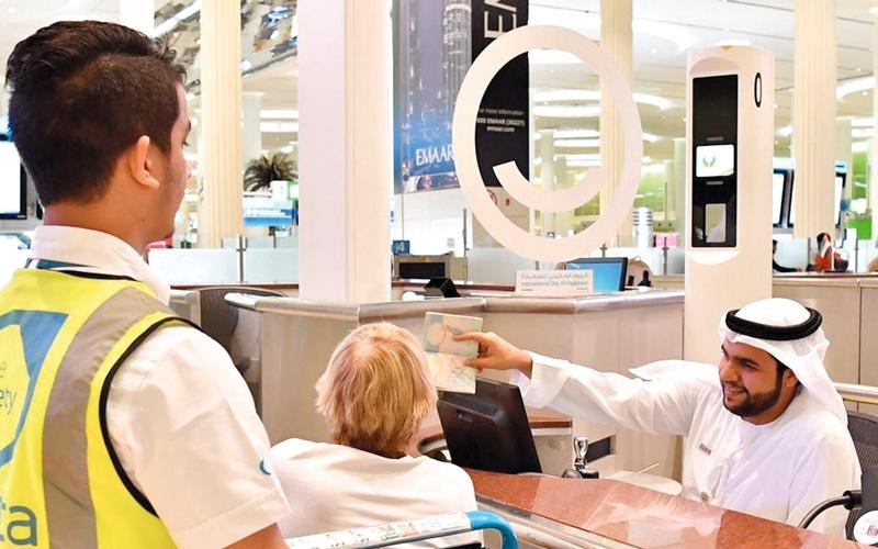 الصورة: ختم مطارات دبي: مرحباً بكم  في الإمارات السعيدة